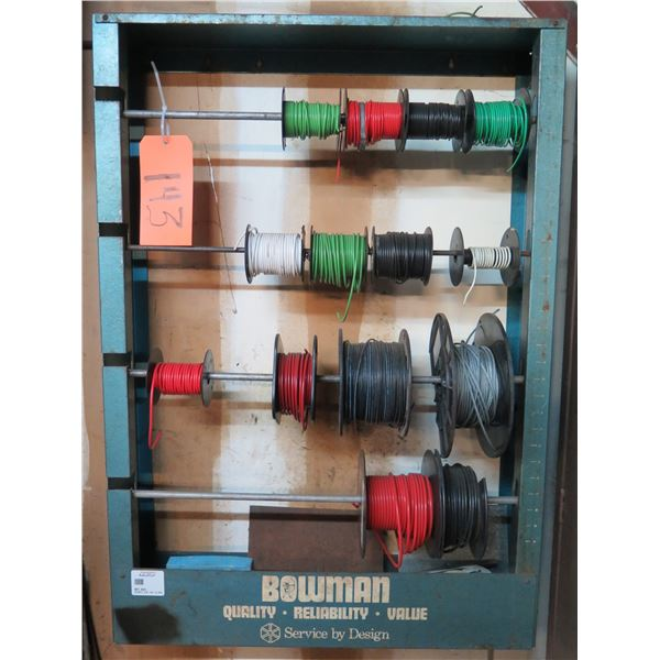 Bowman Rolled Wire Spool 4 Tier Storage Cabinet w/ 14 Spools Misc Wire