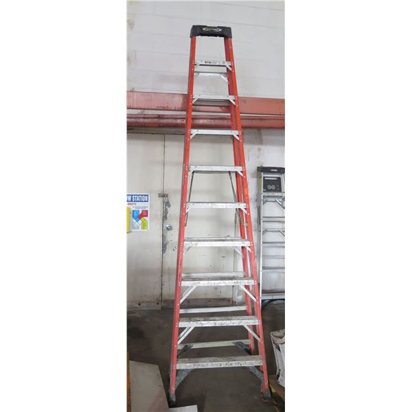 Werner Professional Performance Red Metal Step Ladder