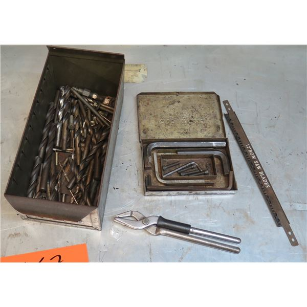 Box Drill Bits, Allen Wrenches, Saw Blades, etc