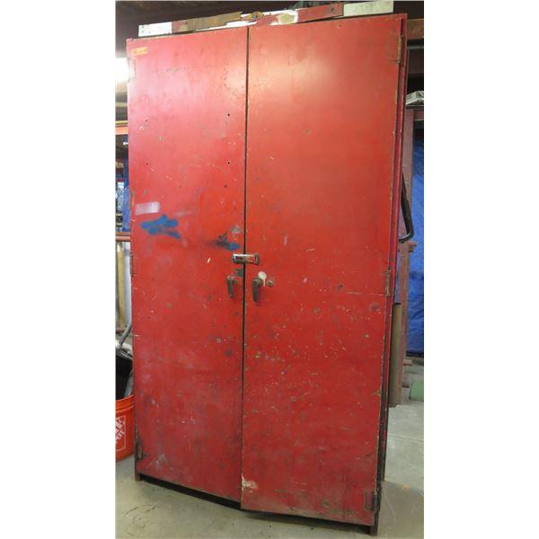 """Metal 2 Door w/ 6 Inside Shelves 50""""x19""""x89"""" Ht."""