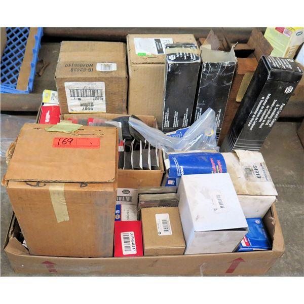 Multiple Boxes Windshield Wiper Pump, Sealed Beams, Brake Pedal Pads, Senders, etc