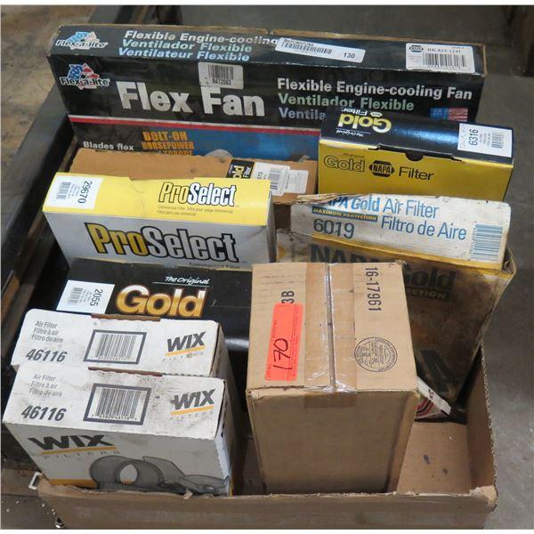 Box Multiple Air Filters: NAPA, ProSelect, etc, Flex Fan, Water Pump, Caliper, etc
