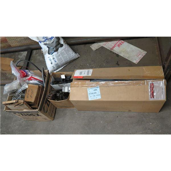 Box Multiple NAPA Fel-Pro Gaskets, Channel Iron, Hardware, etc