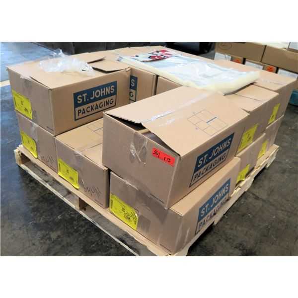 Qty 13 Boxes St. Johns Packaging Love's Ham #9639 Clear Bags