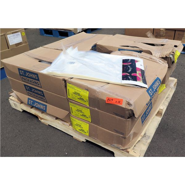 Qty 132 Boxes St. Johns Packaging Home Pride White Twin Pack 718 Bags