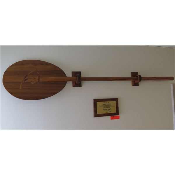 """Wooden Paddle 58"""" Long w/ Mahalo Plaque from Access Surf"""
