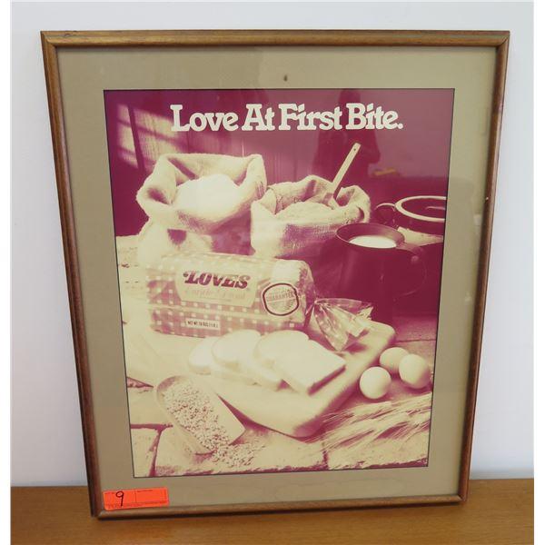 """Framed Vintage 'Love At First Bite' Print 20""""x24"""""""