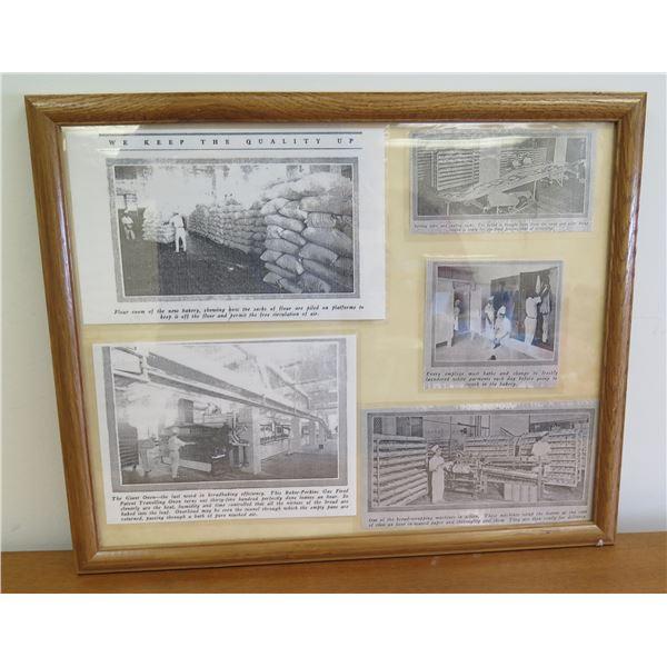 "Framed Love's Newspaper Prints 22""x18"""