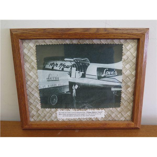 """Framed Love's Air Hour """"Flying Bakery Truck"""" Print 12""""x10"""""""