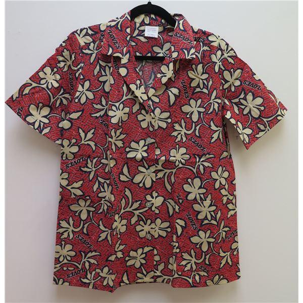 Love's Logo Red Aloha Shirt Size Adult Small