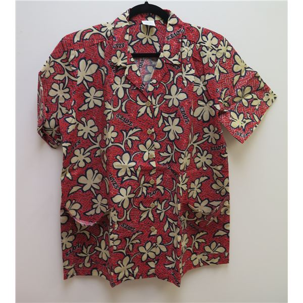Love's Logo Red Aloha Shirt Size Adult Large