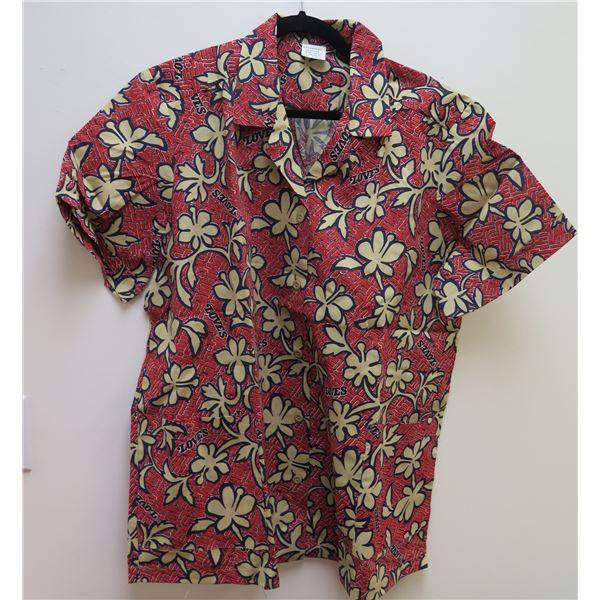Love's Logo Red Aloha Shirt Size Adult 2XL