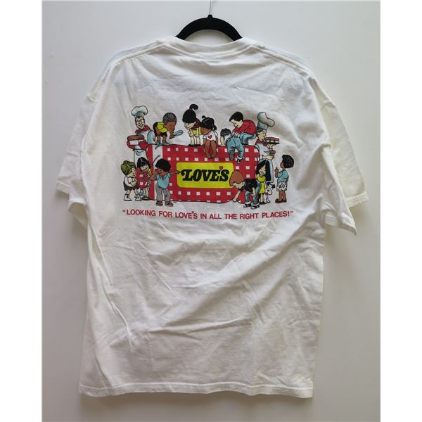 """Love's UH vs BYU Shirt """"Looking for Love in all the Right Places"""" Sz Large"""