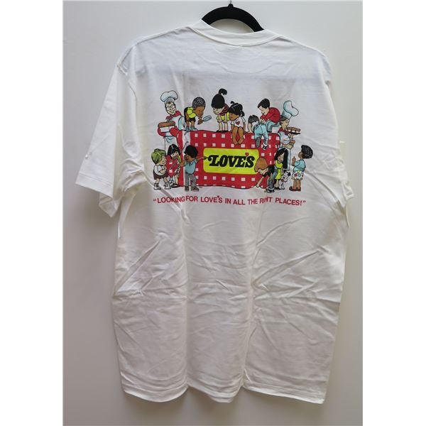 """Love's Crazy Shirt """"Looking for Love in all the Right Places"""" Size X-Large"""