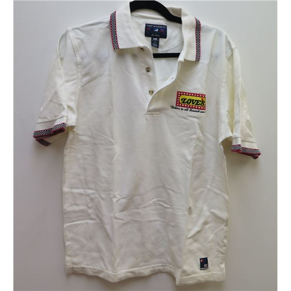 Love's Logo White Port Authority Polo Shirt Size Small