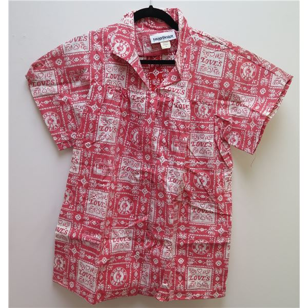 Love's Logo Themed Red Shirt Size 13