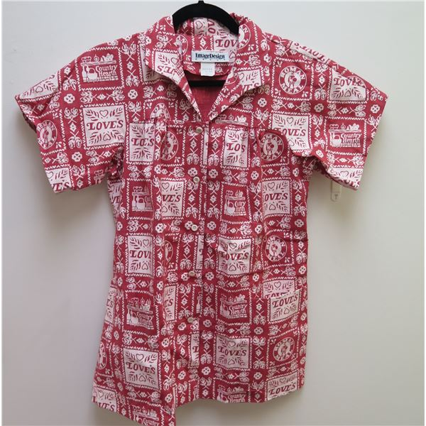 Love's Logo Themed Red Shirt Size 12