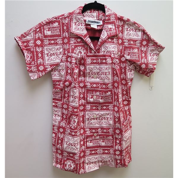 Love's Logo Themed Red Shirt Size 4