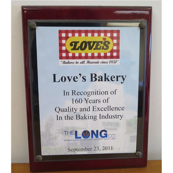 """Love's Bakery 160 Years of Quality & Excellence, Framed 9""""x12"""""""