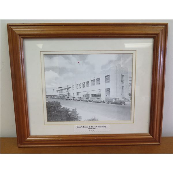 """Framed Black & White Print - Bread & Biscuit Co Iwilei Site 16""""x14"""""""