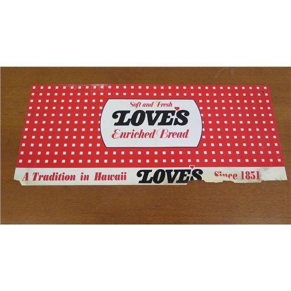 """Love's Bread Logo Paper Sign 24""""x10"""""""