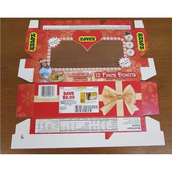 Love's Donettes Box Product Packaging - Gevalia Coffee Gift Promo