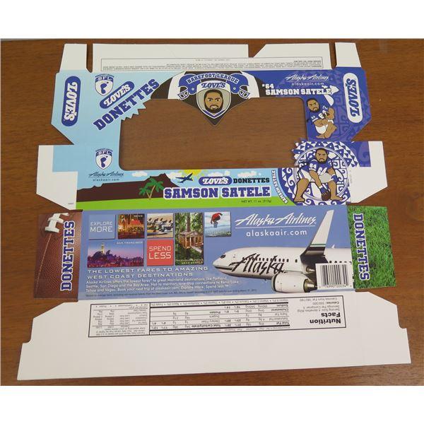 Love's Donettes Box Product Packaging - Samson Satele Alaska Airlines Promo