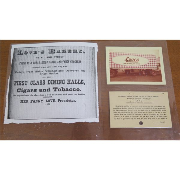 Love's Bakery Print, Photo & Copyright Certificate