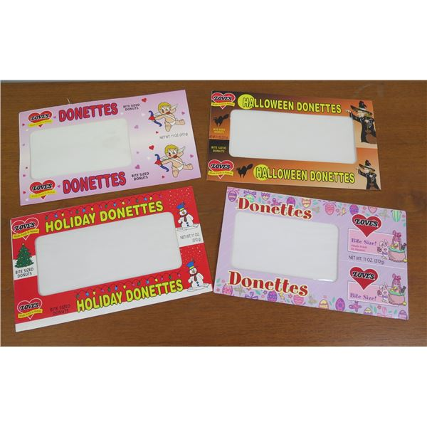Qty 4 Donette's Boxes: Holiday, Halloween, Easter & Valentine's Day