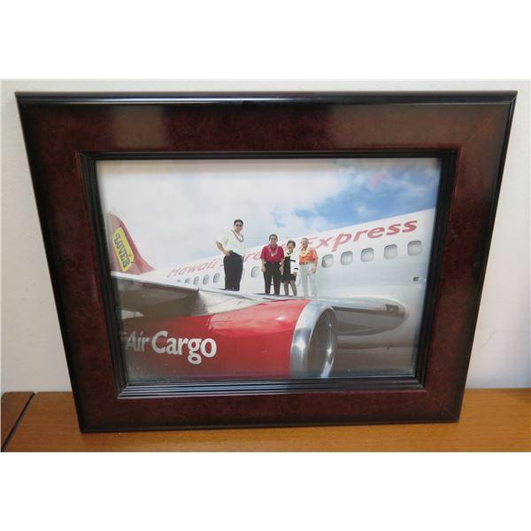 "Vintage Love's Bakery Air Cargo Express Photo, Framed 14""x12"""