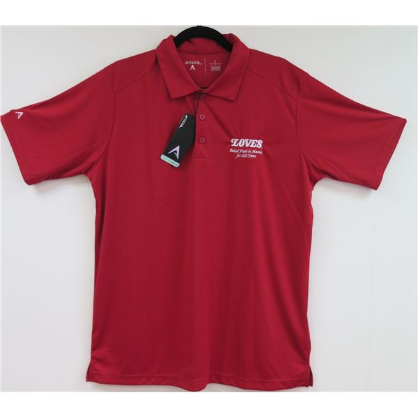 Love's Bakery Antigua Red Polo Shirt, Men's 4XL