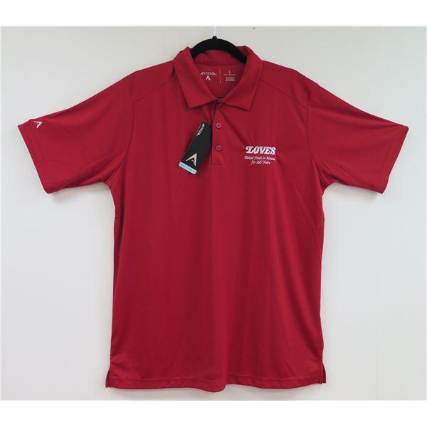 Love's Bakery Antigua Red Polo Shirt, Women's Medium