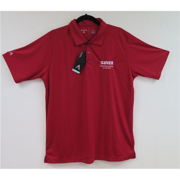 Love's Bakery Antigua Red Polo Shirt, Women's Small
