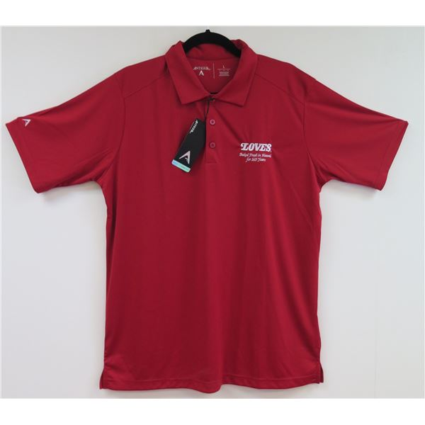 Love's Bakery Antigua Red Polo Shirt, Women's XL