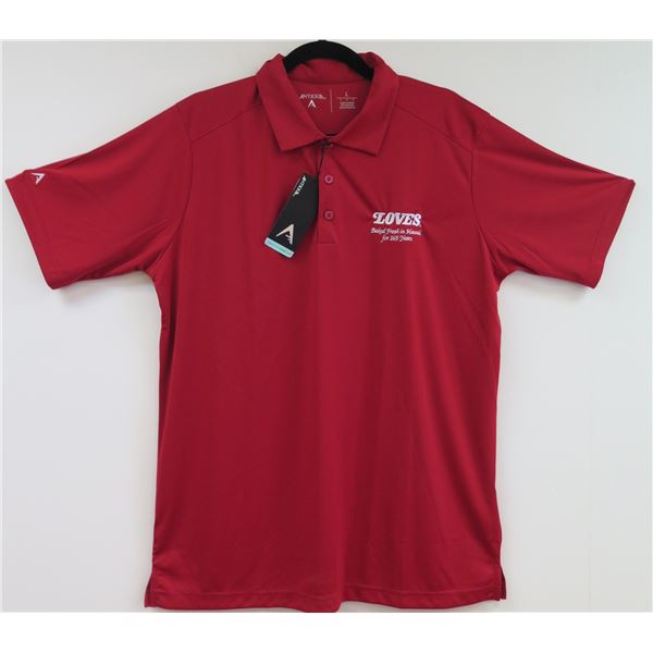 Love's Bakery Antigua Red Polo Shirt, Size XL