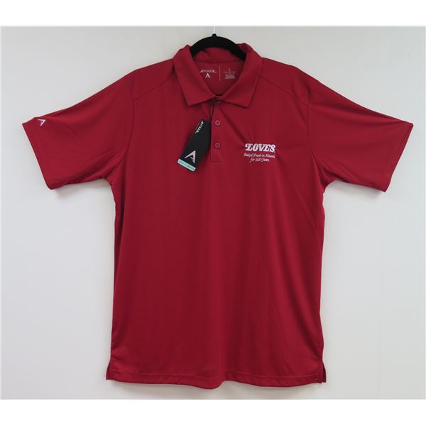 Love's Bakery Antigua Red Polo Shirt, Women's Large
