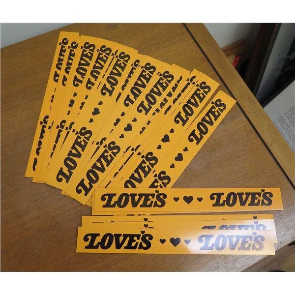 """Multiple Love's Bakery Bookmarks 10"""" Long"""