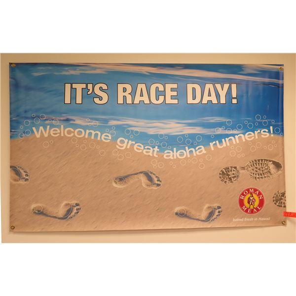 Roman Meal It's Race Day! Welcome Great Aloha Run Banner
