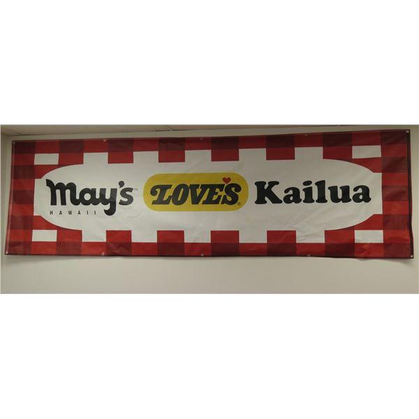 "Love's Bakery ""May's Kailua"" Hawaii Banner"