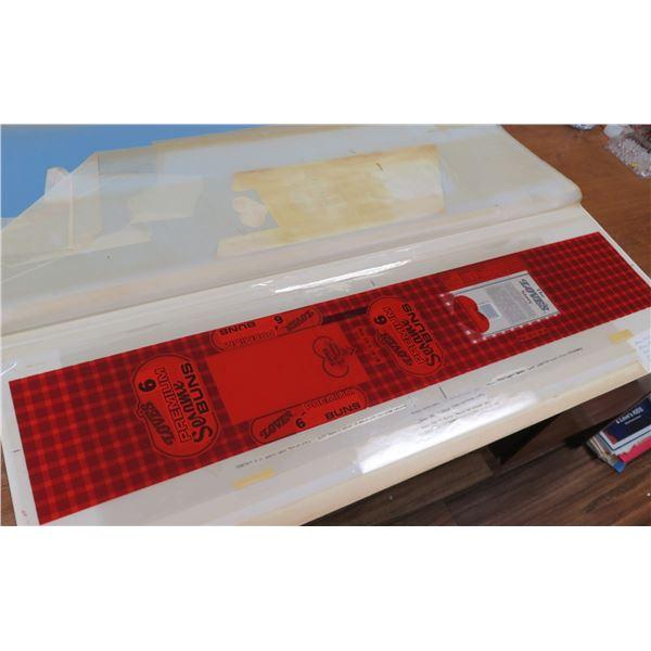 "Love's 6 Premium Sesame Buns Packaging 1993 Approx. 41"" Long"