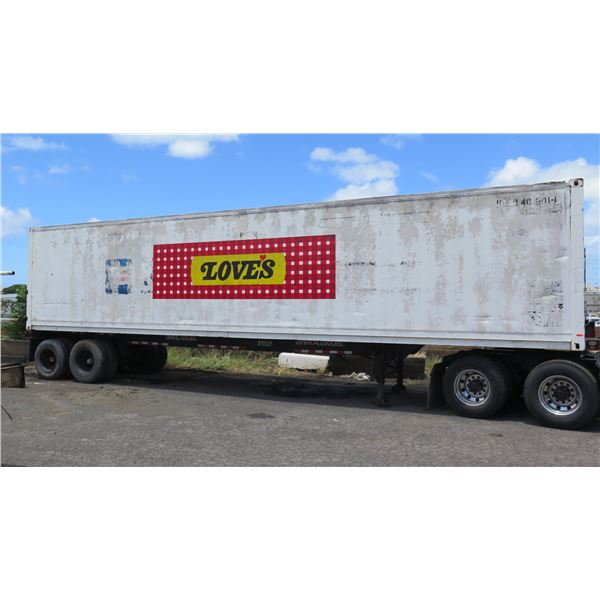 40-Foot Container on Chassis (#33521)