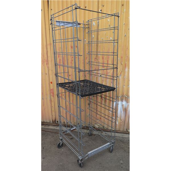 8 Collapsible, Rolling Wire Cooling Rack for Bakestep Trays (see 291 for painted version)