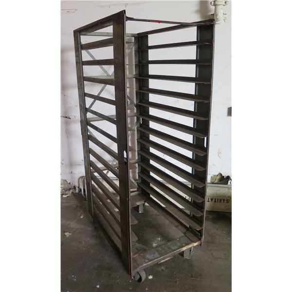 Commercial Rolling Metal Cooling Rack (see 282 for the painted version)