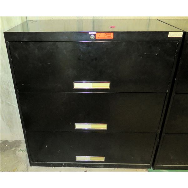 """Cole Metal 2 Drawer Lateral File Cabinet 36""""x18""""x40""""H"""