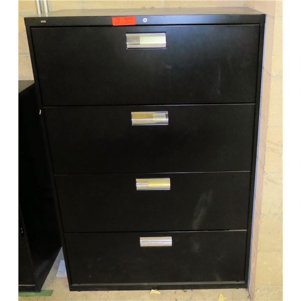 """HON Metal 4-Drawer Lateral File Cabinet 36""""x18""""x56""""H"""