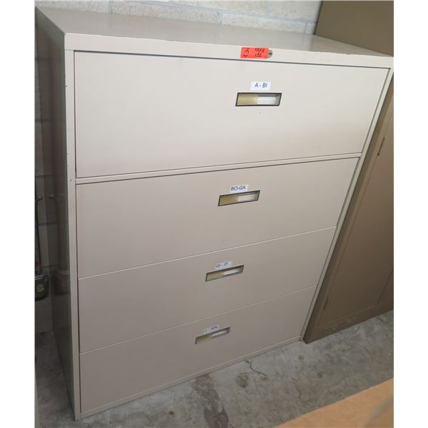 Steelcase Metal 4-Drawer Lateral File Cabinet 42 x18 x52 H
