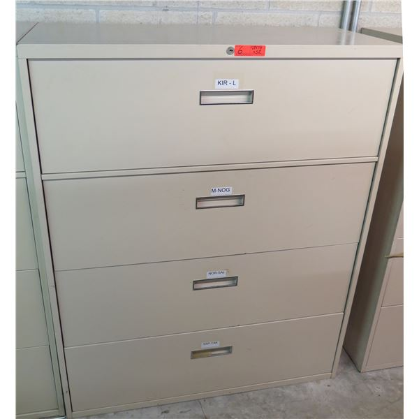 """Steelcase Metal 4 Drawer Lateral File Cabinet 42""""x18""""x52""""H"""