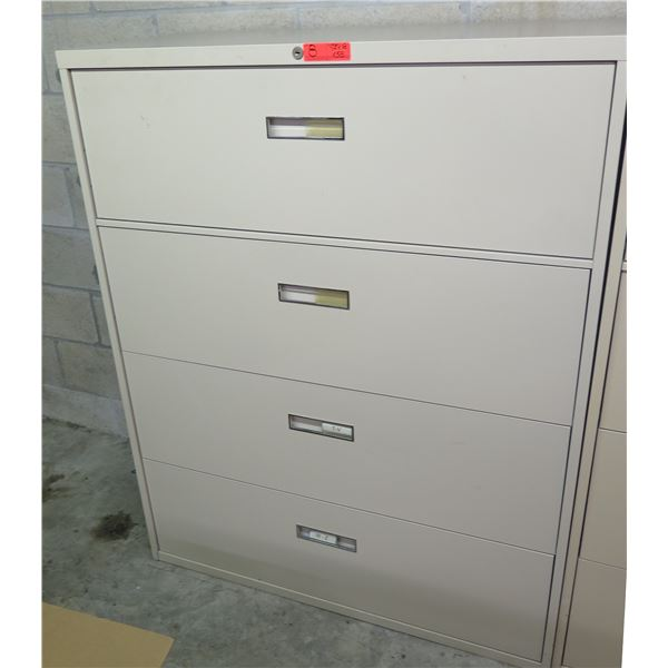 """Steelcase Metal 4-Drawer Lateral File Cabinet 42""""x18""""x52""""H"""