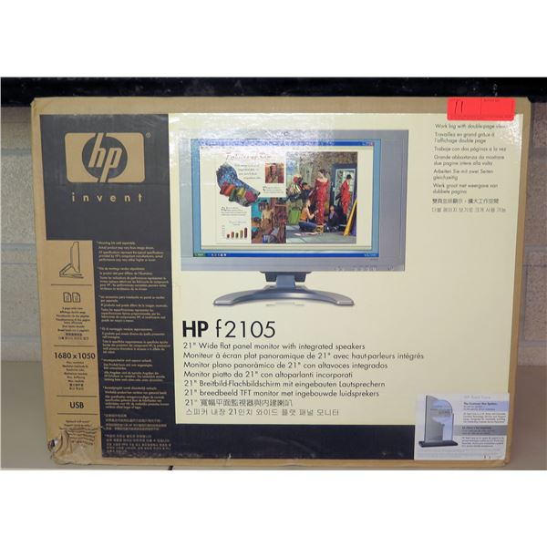"""HP F2105 21"""" Wide Flat Panel Monitor w/ Integrated Speakers New in Box"""