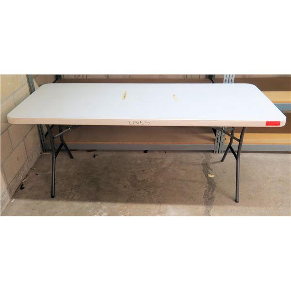 Lifetime Hard Plastic Folding Table